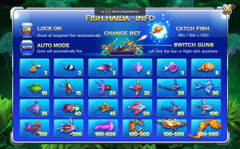 รายละเอียดของเกมยิงปลาเล่นง่ายๆ